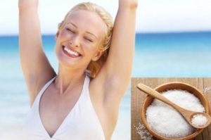 Công dụng trị hôi nách bằng muối