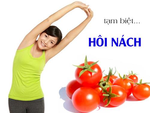 Tác dụng của trị hôi nách bằng cà chua