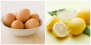 Trị hôi nách bằng trứng gà và chanh