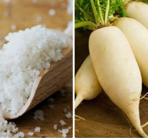 Cách trị hôi nách với củ cải trắng và muối