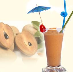Tăng cân hiệu quả với sinh tố hồng xiêm cà phê