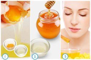 Đắp mặt nạ trứng gà mật ong