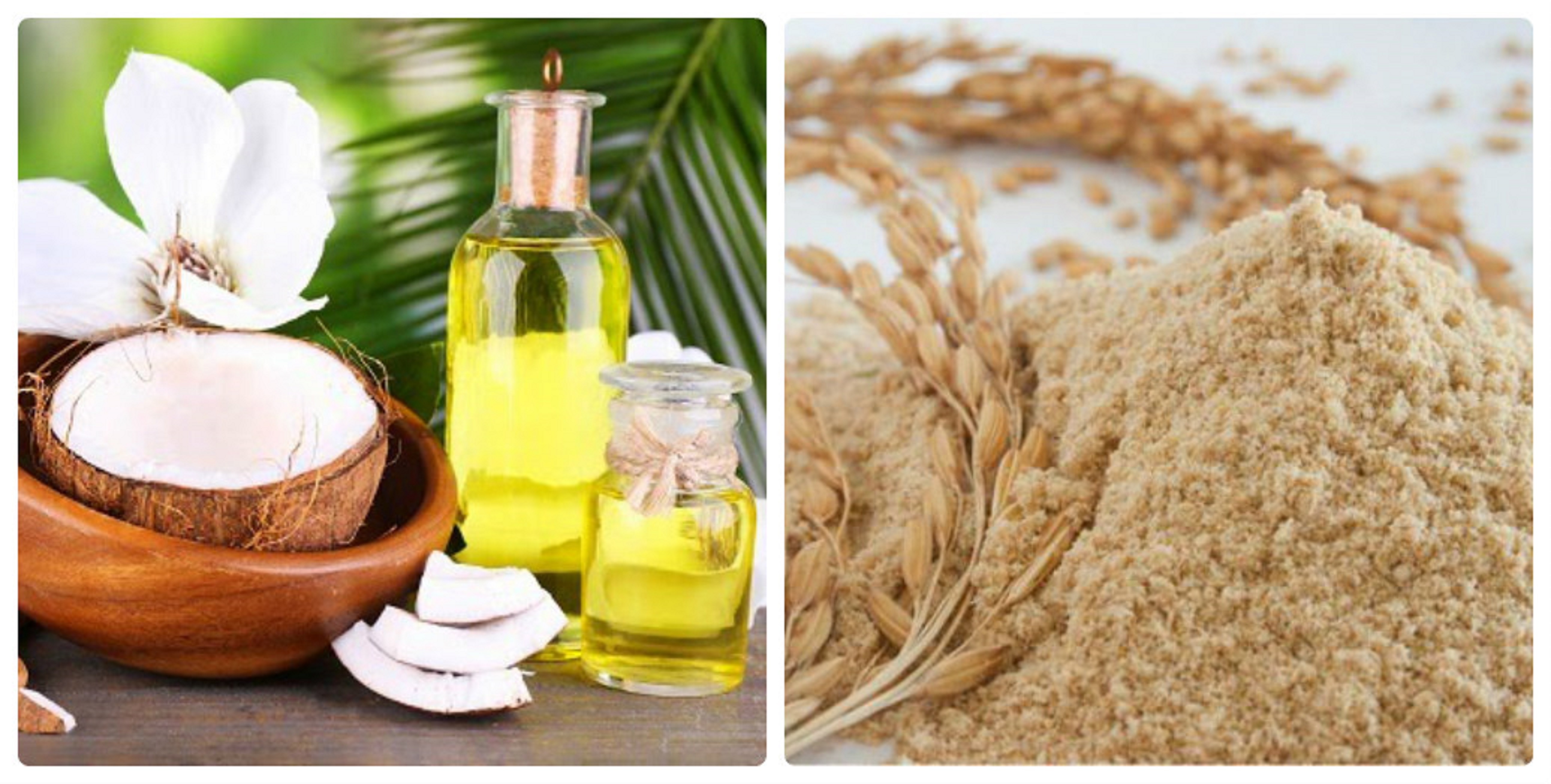 Trị nám da hiệu quả bằng dầu dừa và bột cám gạo