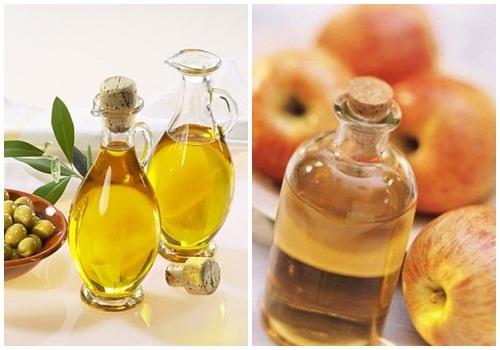 Trị nám da bằng dầu oliu và giấm táo