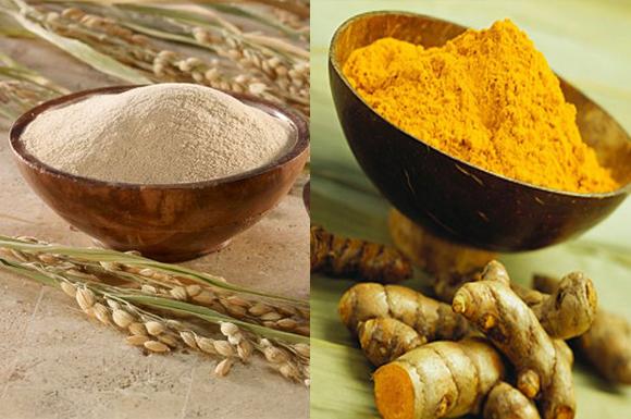 Trị nám hiệu quả bằng bột yến mạch và bột nghệ