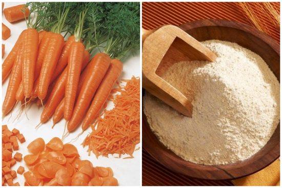 Trị nám hiệu quả bằng cà rốt và bột gạo