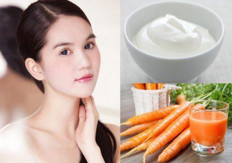 Trị nám hiệu quả bằng cà rốt và sữa chua