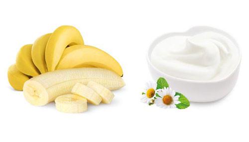 Trị nám hiệu quả bằng chuối và sữa chua