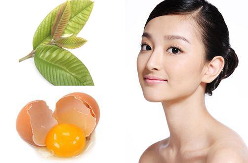 Trị nám da tận gốc bằng mặt nạ lá ổi và trứng gà