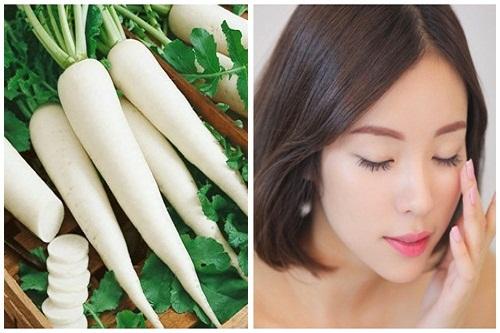 Trị nám da bằng củ cải trắng – Trị nám hiệu quả sau 1 tuần