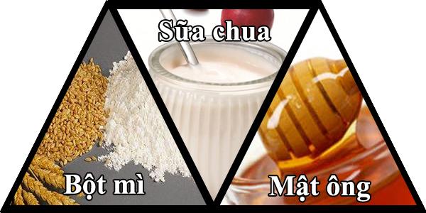 Trị nám da bằng bột mì sữa chua và mật ong