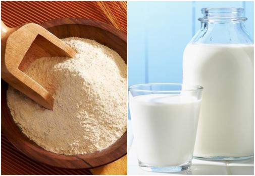 Trị nám da bằng bột mì và sữa tươi