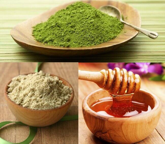 Trị nám hiệu quả bằng bột trà xanh và mật ong