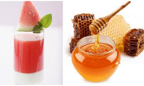 Trị nám da bằng dưa hấu và mật ong