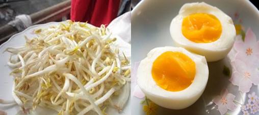 Chữa yếu sinh lý hiệu quả bằng trứng gà và giá đỗ