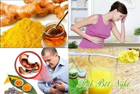 Tinh bột nghệ trị đau dạ dày hiệu quả