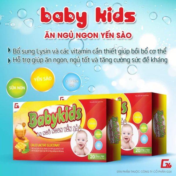Siro tăng cân cho bé baby kids