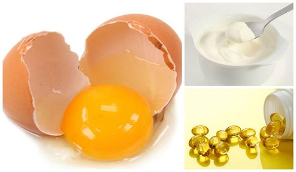 Tăng vòng 1 từ trứng gà với sữa chua và vitamin e