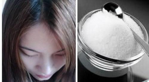 Chữa nấm da đầu bằng muối pha loãng